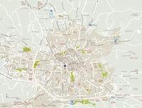 Plan de la proche périphérie d'Aix-en-Provence