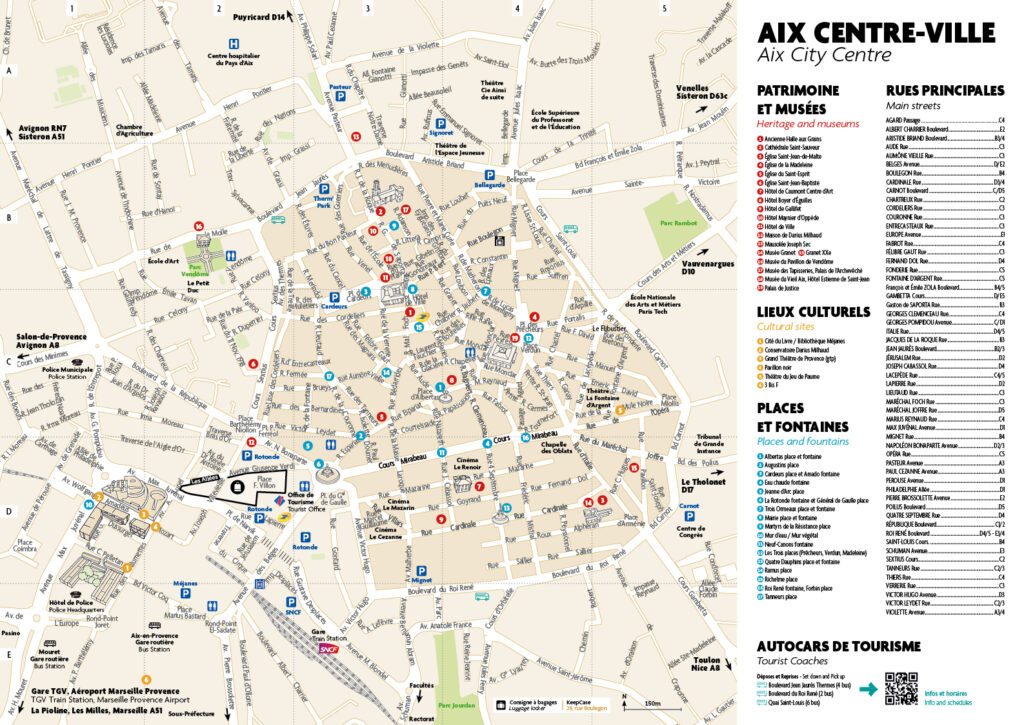 Aix en Provence Downtown and points of interest